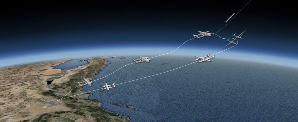 Lanzamiento de cohetes con Stratolaunch (fuente Vulcan aerospace)